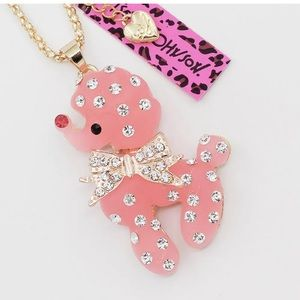 Cute Poodle Betsey Johnson necklace